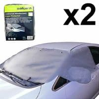 2 x MPV 4X4 CAR WINDSCREEN WINDOW FROST ICE PROTECTOR COVER SUCTION CUPS